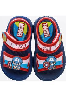 Sandália Infantil Capitão América Baby Marvel Atack Grendene Kids