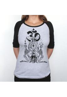 Holy Mountain - Camiseta Raglan Manga Longa Feminina