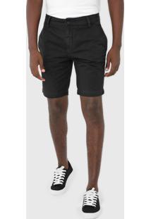 Bermuda Sarja Calvin Klein Jeans Chino Bolsos Preta - Preto - Masculino - Algodã£O - Dafiti