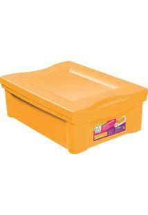 Caixa Organizadora Color- Amarela- 14,4X30,5X42,5Cm