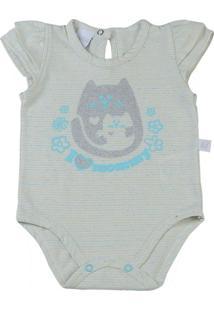Body Bebê Malha Listrada I Love Mommy - Feminino