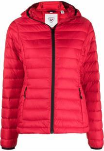 Rossignol Lightweight Hooded Puffer Jacket - Vermelho