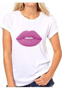Camiseta Coolest Batom Roxo Feminina - Feminino