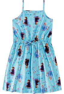 Vestido Evasê Frozen® Menina Malwee Kids