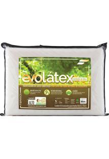 Travesseiro Evolátex Alto Látex - Fibrasca - Bege