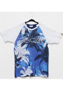 Camiseta Infantil Gangster Coqueiros Masculina - Masculino-Branco