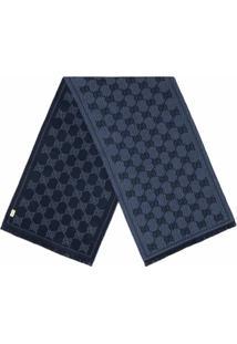 Gucci Cachecol Jacquard Com Padronagem Gg - Azul