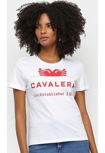 Camiseta Cavalera Logo Águia Feminina - Feminino-Branco