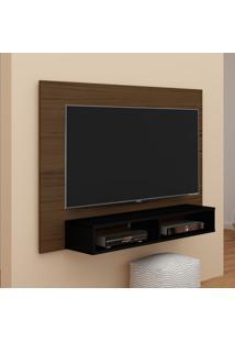 Painel Flash Ideal Para Tv De Até 42 Polegadas Em Imbuia Amendoa/Preto Artely