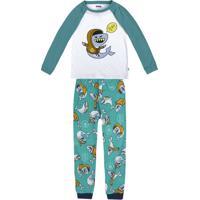 0eae770bb6 Pijama Infantil Menino Em Malha De Algodão Com Estampa Que Brilha No Escuro  Puc
