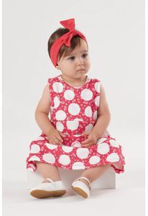 Vestido Up Baby Infantil Vermelho