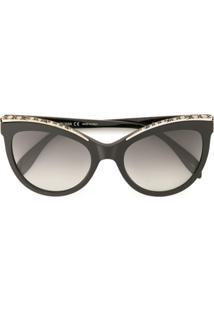 Óculos De Sol Alexander Mcqueen Preto feminino   Shoes4you c2a553e911