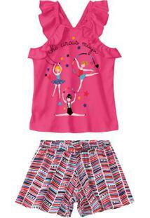 Conjunto Rosa Circus Magic Babados Malwee Kids