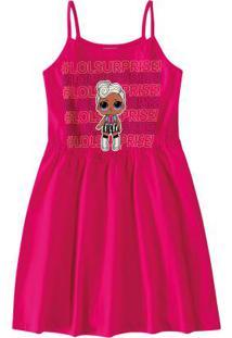 Vestido Rosa Escuro Lol Surprise® Em Cotton