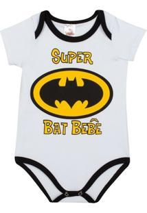 9b4055fc030a Body Infantil Super Bat Bebê Mini Shake Algodão Masculino - Masculino