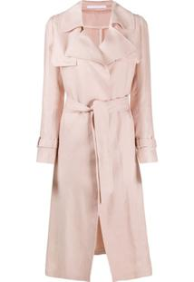Tagliatore Trench Coat Com Cinto - Rosa