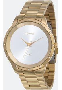 Kit Relógio Feminino Lince Lrg619L-Ki07S1Kx Analógico 5Atm + Conjunto Semijóia