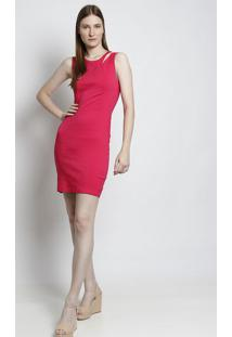 Vestido Com Recorte Vazado - Pinkmoiselle