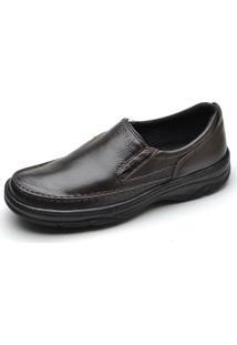 Sapato Pizaflex Conforto - Masculino-Café