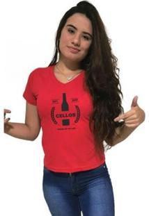 Camiseta Gola V Cellos Drink Premium Feminina - Feminino