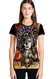 Camiseta Feminina Ramavi India Manga Curta
