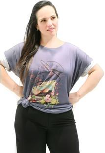 Camiseta Vickttoria Vick Fita Cassete Plus Size