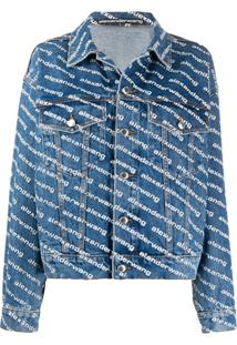 Alexander Wang Jaqueta Jeans Com Estampa De Logo - Azul