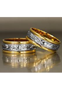 Aliança De Ouro Acabamento Lisa - As0108
