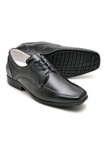 Sapato Social Masculino Preto Tamanho Especial 020