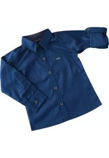 Camisa Esparta Manga Longa Infantil Azul Marinho - Azul - Menino - Dafiti