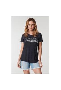 Camiseta Yacamim Com Estampa Amazônia Cinza