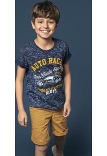 Conjunto Infantil Menino Em Algodão Estampado Hering Kids Play Jeans
