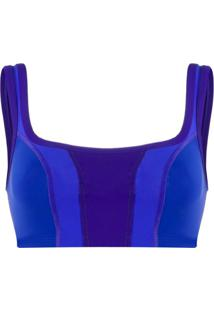 Isabel Marant Blusa Taceyo Cropped - Azul