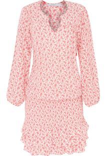 Vestido Recortes Seda Cashmere - Vermelho