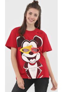Camiseta Colcci Mickey Vermelha - Vermelho - Feminino - Algodã£O - Dafiti