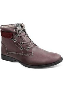 Bota Dress Boot Masculina Sandro Republic Strike Vinho Bordo