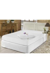 Protetor De Travesseiro Capital Do Enxoval Impermeável 70Cm X 50Cm Branco