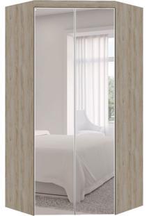 Guarda-Roupa Closet Modulado Virtual Com Espelho 2 Pt 3 Gv Cedro Amadeirado