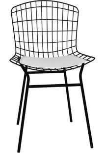 Cadeira Trama Branca E Preta