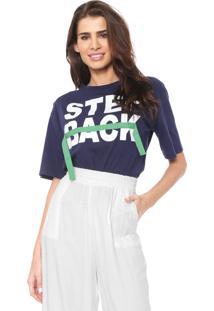 Camiseta Lez A Lez Step Back Azul-Marinho