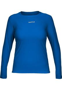 Camiseta Curtlo Active Fresh Ml - . Azul Gg - Kanui