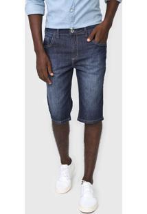 Bermuda Jeans Forum Reta Estonada Azul