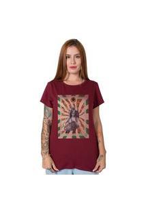 Camiseta Janis Joplin Collage Bordô