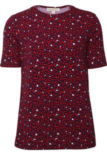 Camiseta Michael Kors Hearts Forever Vermelho