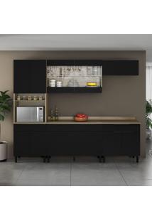 Cozinha Compacta Itamaxi Ii 11 Pt 3 Gv Preta E Castanho