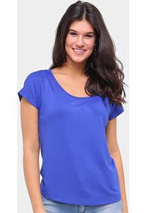 Camiseta Forum Básica Lisa Feminina - Feminino-Azul Escuro
