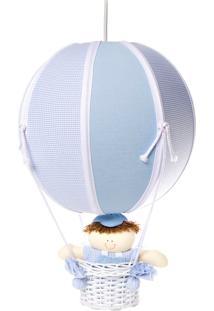 Lustre Balão Bolinha Quarto Bebê Infantil Menino Potinho De Mel Azul