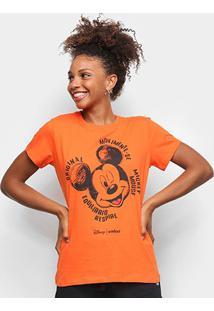 Camiseta Colcci Disney Mickey Feminina - Feminino-Laranja
