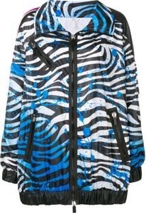 No Ka' Oi Jaqueta Com Estampa Zebra - Azul