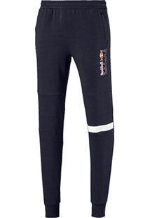 Calça Moletom Puma Red Bull Logo Sweat Pants Masculina - Masculino-Marinho